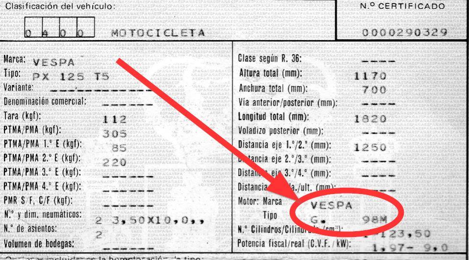 FORO GENERAL :: Identifica tu Vespa (nº de motor y nº de chasis)